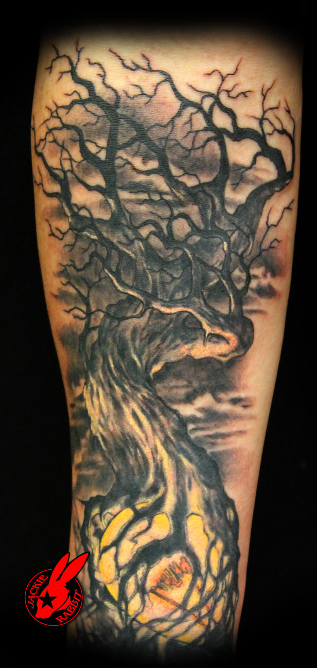 light dark tree tattoo by jackie rabbit by jackierabbit12