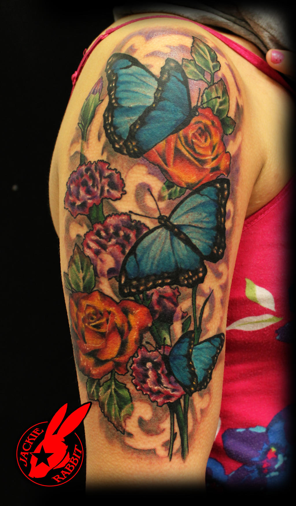 Tattoo gallery pictures and designs free tattoo designs traditional butterfly flower tattoo izmirmasajfo Choice Image