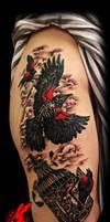 Black Bird Cage Tattoo by Jackie Rabbit by jackierabbit12