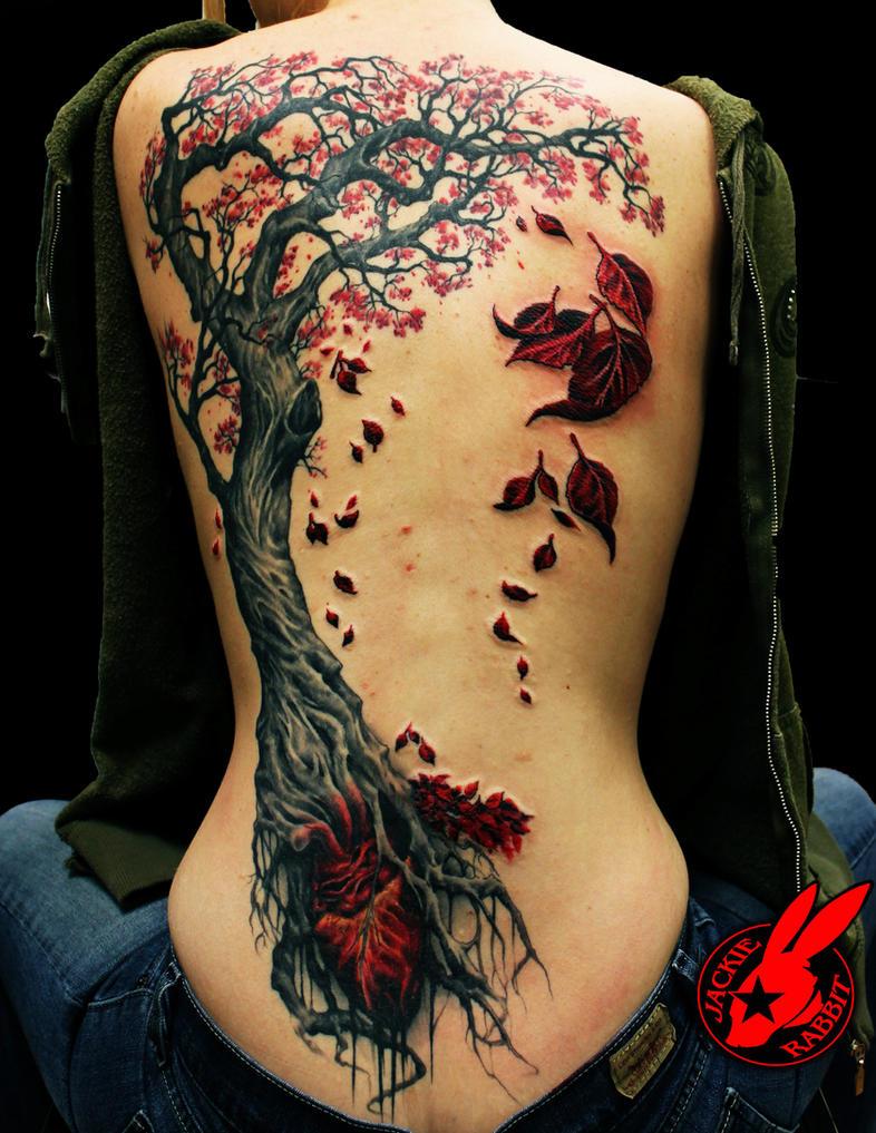 Heart Tree Tattoo by Jackie Rabbit by jackierabbit12