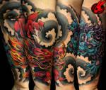 Dragon Foo Dog Tattoo by Jackie Rabbit