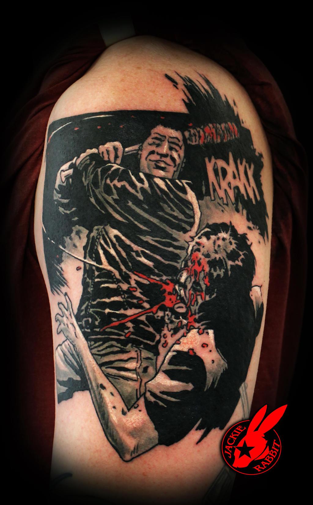 Walking Dead Comic Tattoo by Jackie Rabbit by jackierabbit12