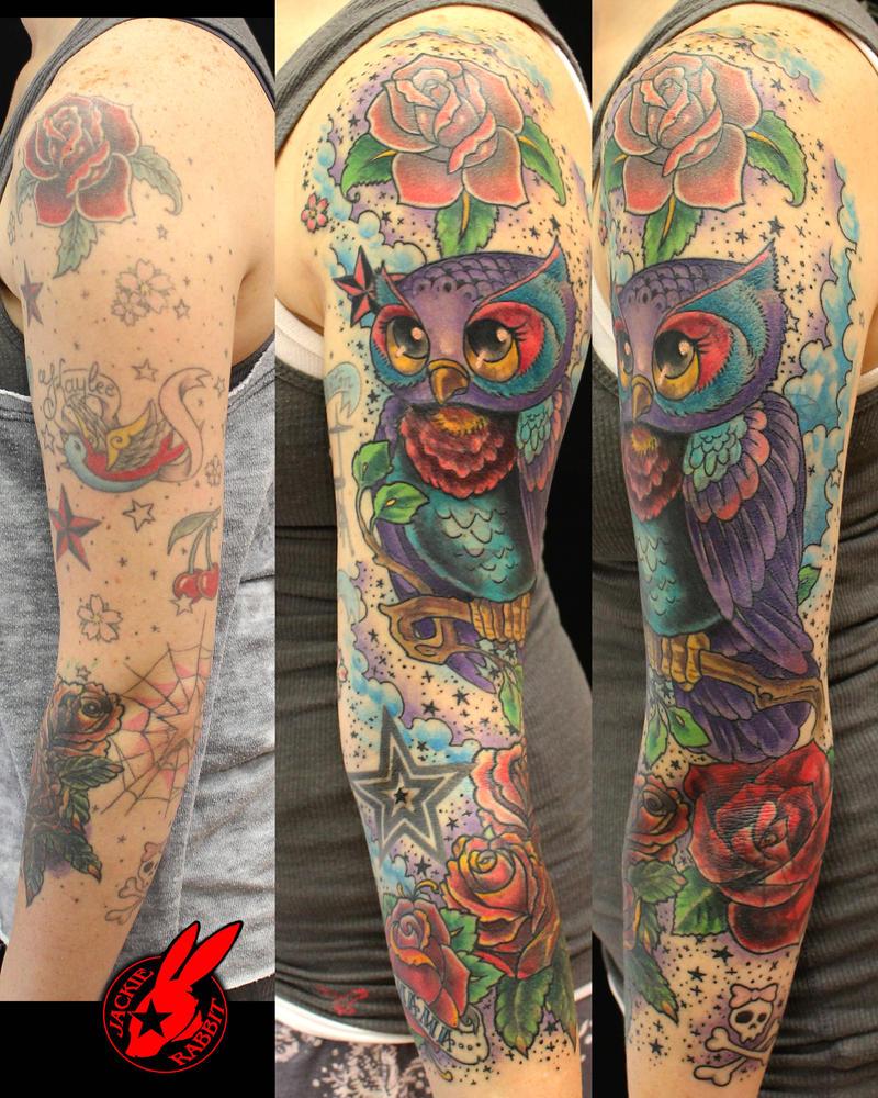 Random Tattoo Sleeve: Traditional Sleeve Tattoo Fix By Jackie Rabbit By