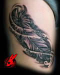 Feather Tattoo by jackie Rabbit