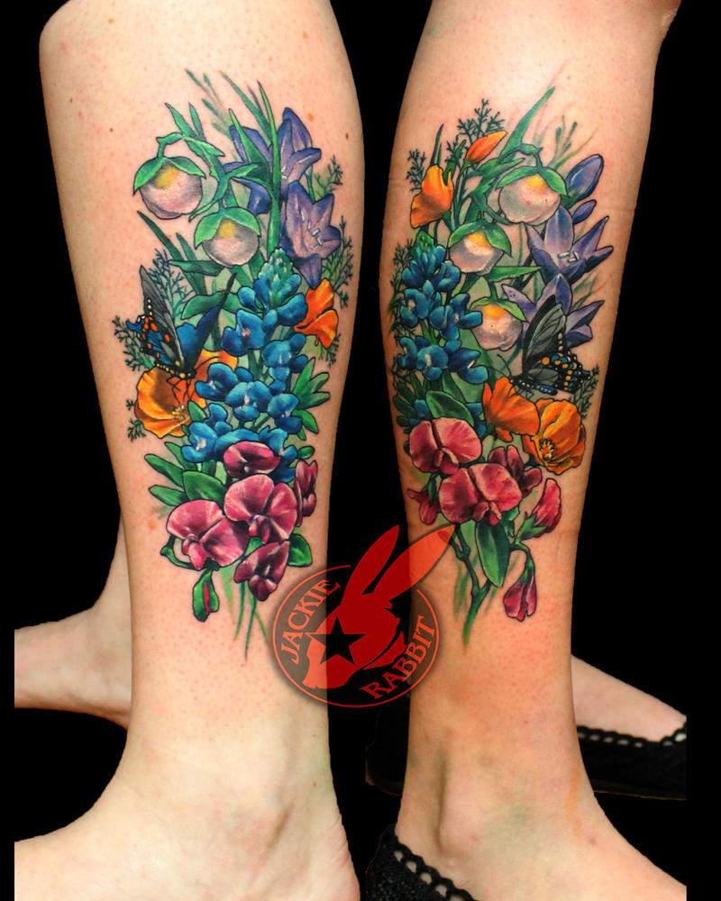 Wild Flowers Friendship Tattoo by Jackie Rabbit by jackierabbit12