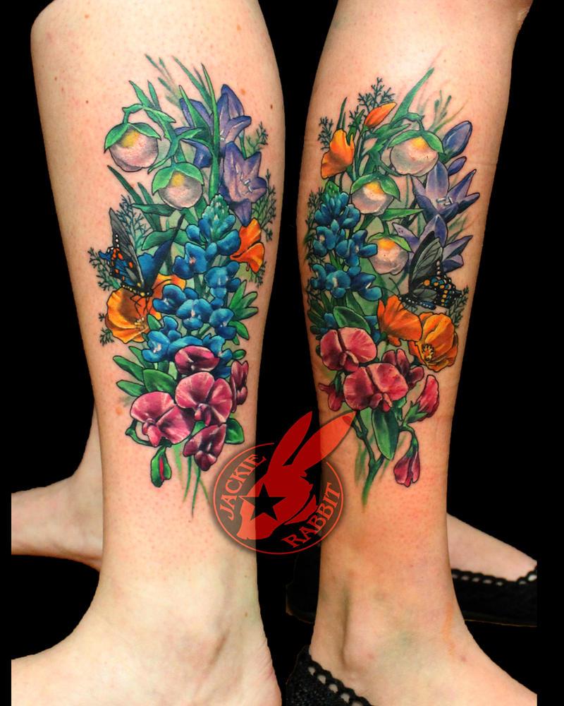 Wild Flowers Friendship Tattoo by Jackie Rabbit by jackierabbit12