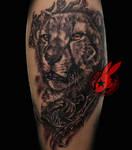 Realistic Cheetah Portrait Tattoo Jackie Rabbit