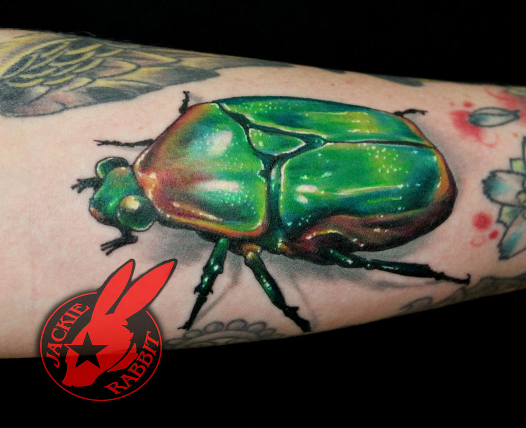3d Realistic June Bug Scarab Beetle Tattoo by Jack by jackierabbit12 ...