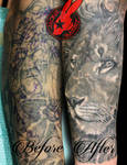 Realistic Lion CoverUp Tattoo Jackie Rabbit