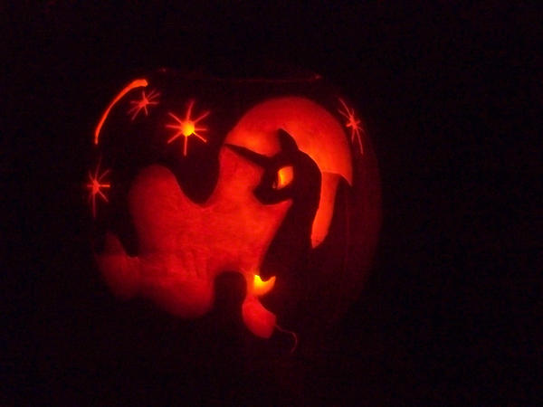 Princess Luna Jack-O-Lantern by o0AquaDragon0o