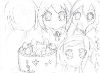 K-ON Cake (unfinished) by KIMIKONYO