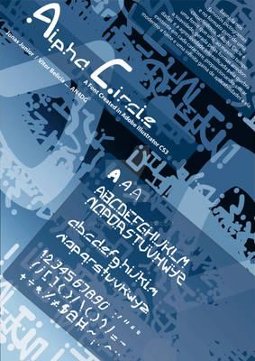 alpha circle - typography