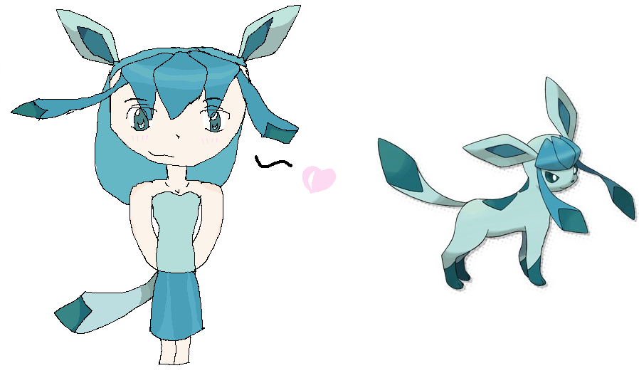 Glaceon as a human by iceclan345 on DeviantArt