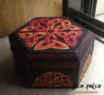 Celtic Knotwork Wooden Box