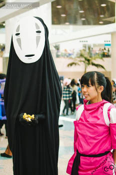 Spirited Away - No Face and Chihiro