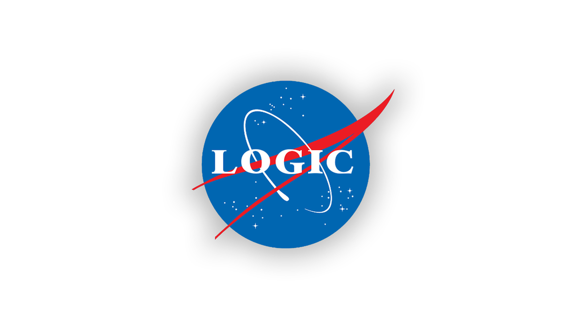 Logic NASA Style Logo Wallpaper By HalukAliev
