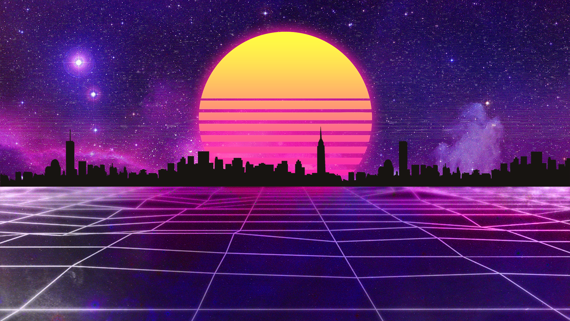 Retrowave wallpaper by halukaliev on deviantart - Space 80s wallpaper ...