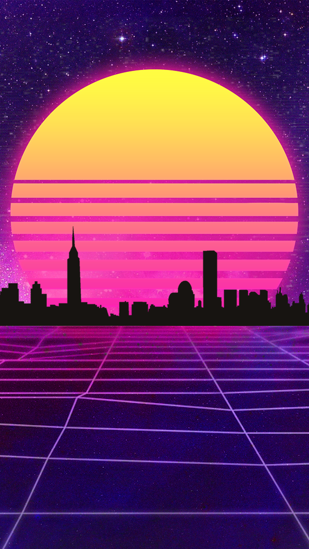 Phone Wallpaper Retrowave