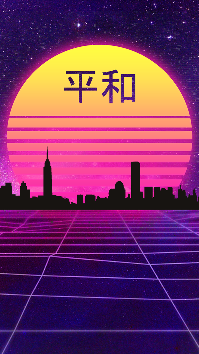 Download Wallpaper Mobile Purple - retrowave_japanese_style_wallpaper__mobile__by_halukaliev-dbpr12o  Best Photo Reference_571110.png