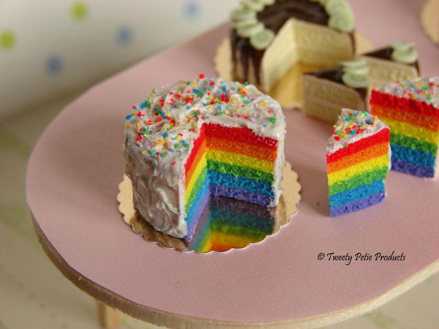 Rainbow Cake by birdielover