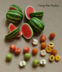 Peaches, Apples, and Watermelon
