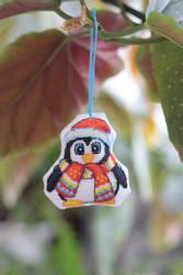Toy on the Christmas tree Penguin by Catya-rina