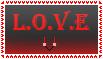 L.O.V.E. stamp by helladespair