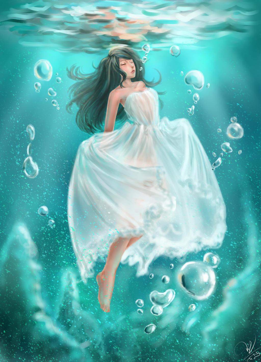 Girl Underwater by emia1905 on DeviantArt