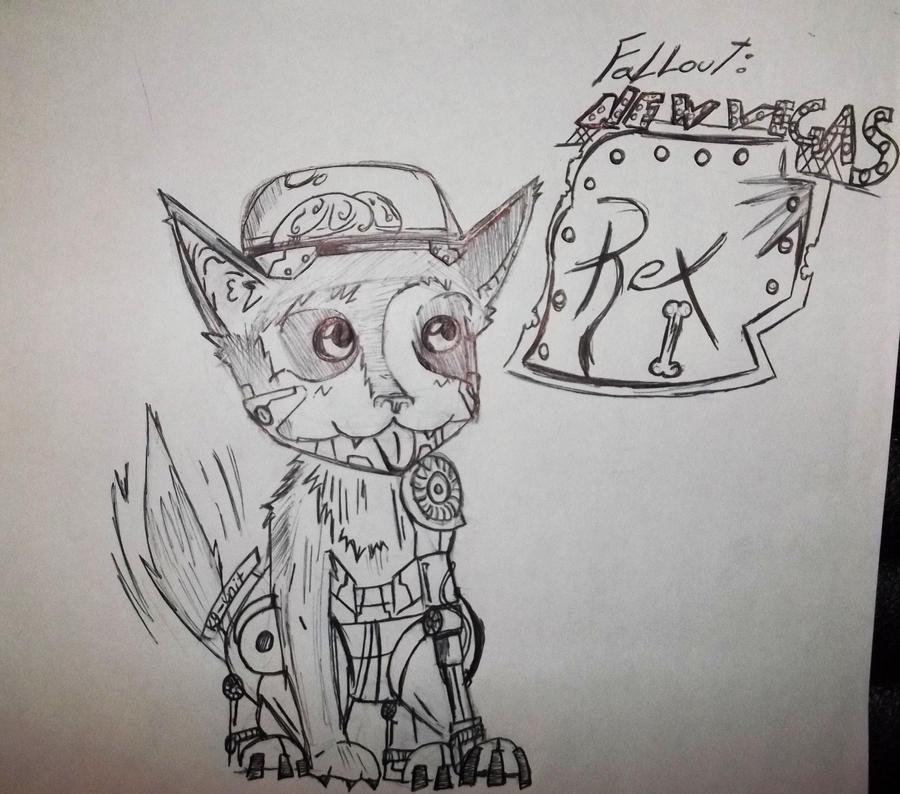 Fallout 3 Fan Art: Fallout New Vegas Fanart: Rex By Dreadlum On DeviantArt