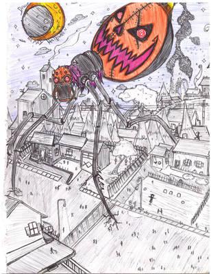 unfinished halloween draw by Dreadlum