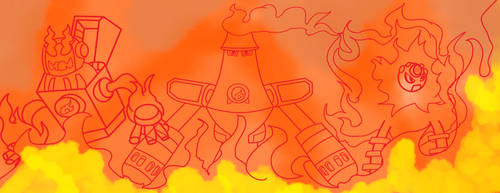 Inktober 18 Fireman Heatman Flameman by Ajustice90