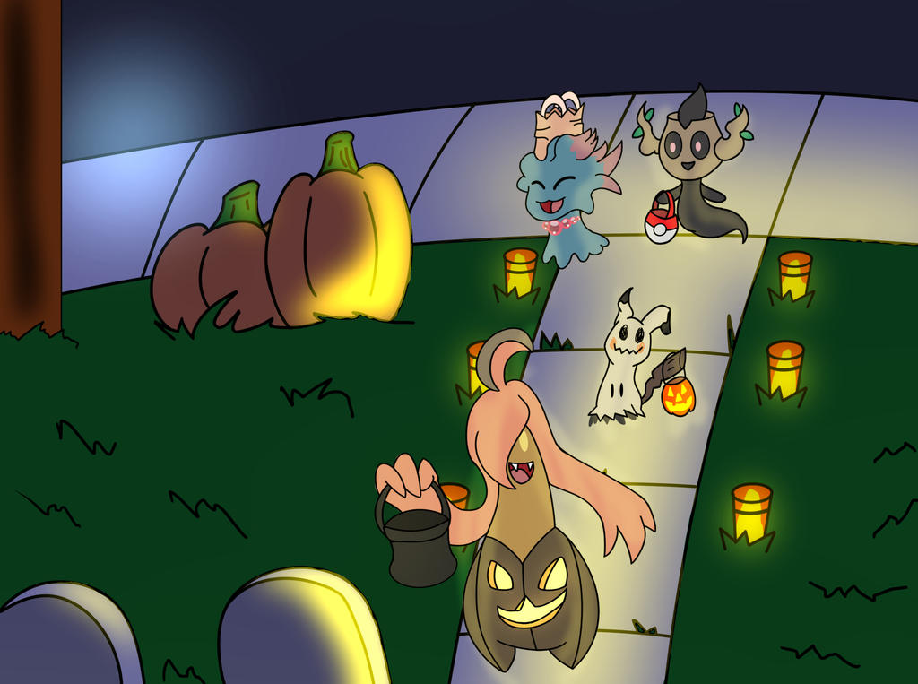 Trick or Treating with Gourgeist by Ajustice90
