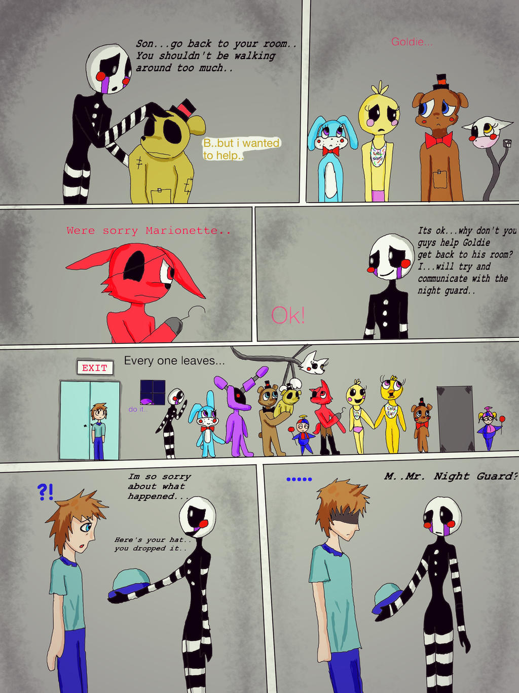 The puppet and the night guard page 1 by puppet marrionette on