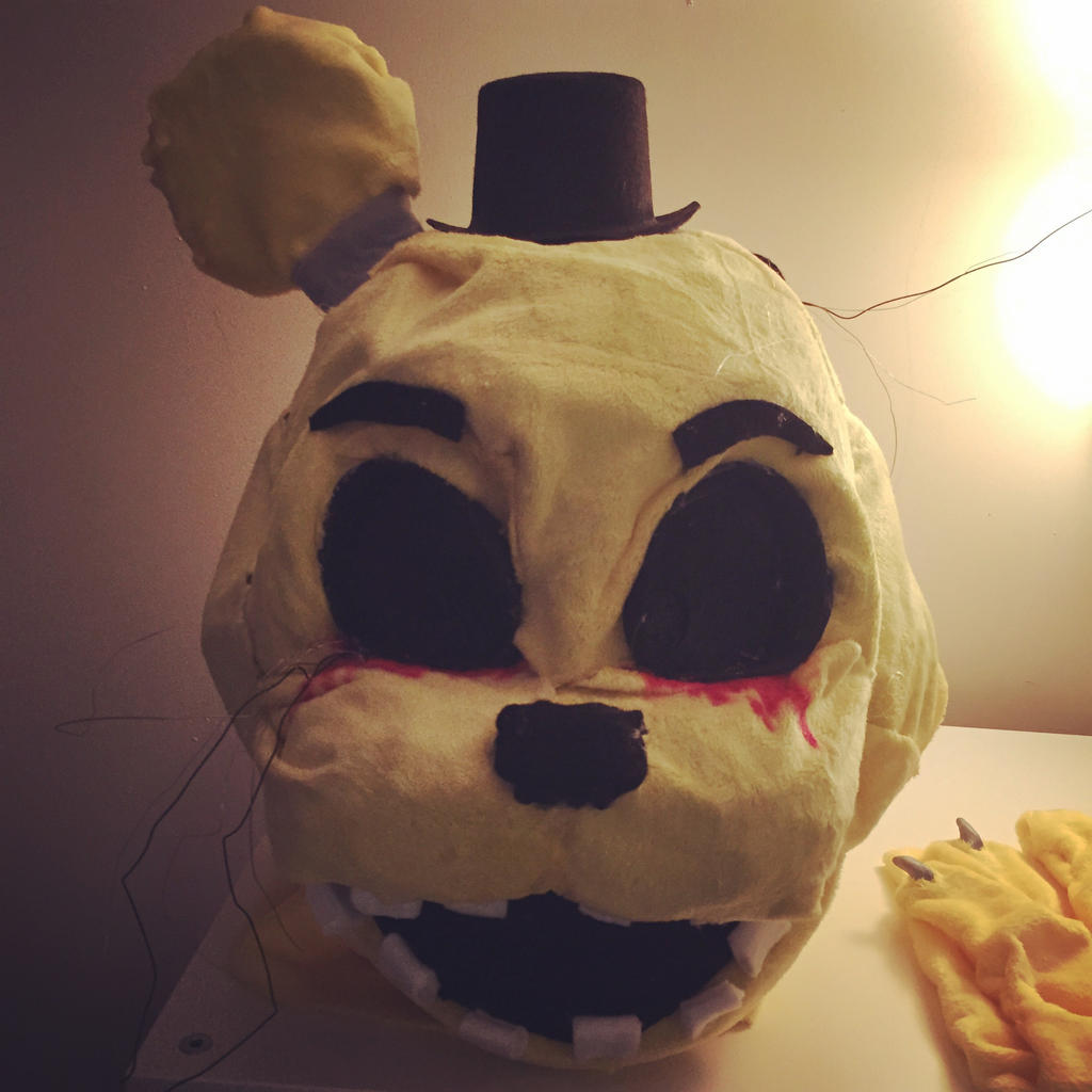 Fnaf freddy head for sale -  Finished Golden Freddy Head By Puppet Marrionette