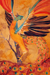 Myth of the Phoenix(detail) by 00BlacKBerrY00