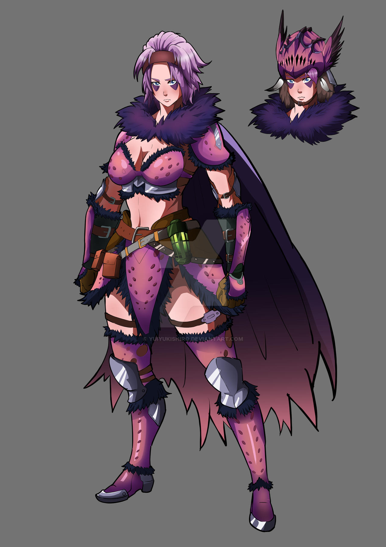 Female Anjanath Armor Art By Yuiyukishiro On Deviantart
