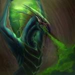 Evil dragon with poisonous breath
