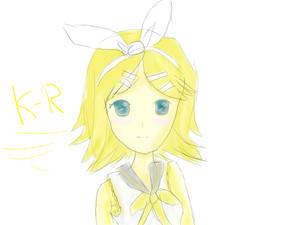 Kagamine Rin sketchie :3
