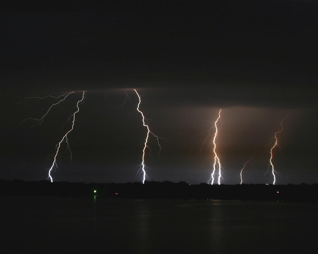 Lightning Over Lake Texoma by imacmike
