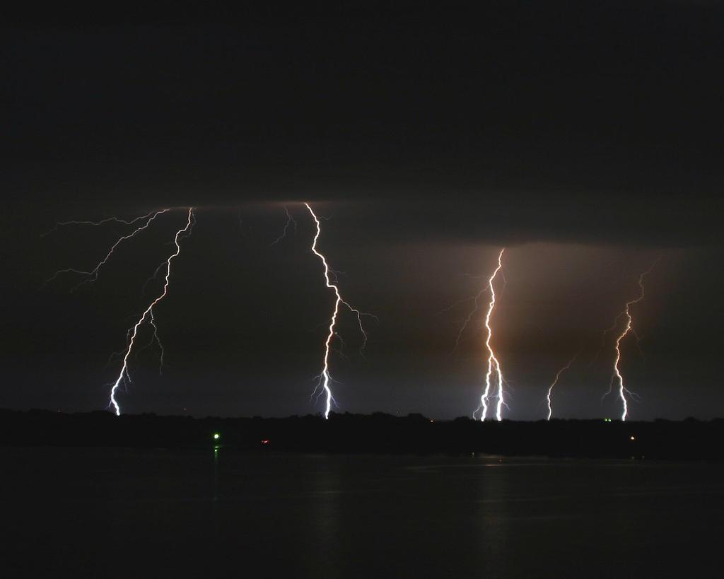 Lightning Over Lake Texoma by imacmike