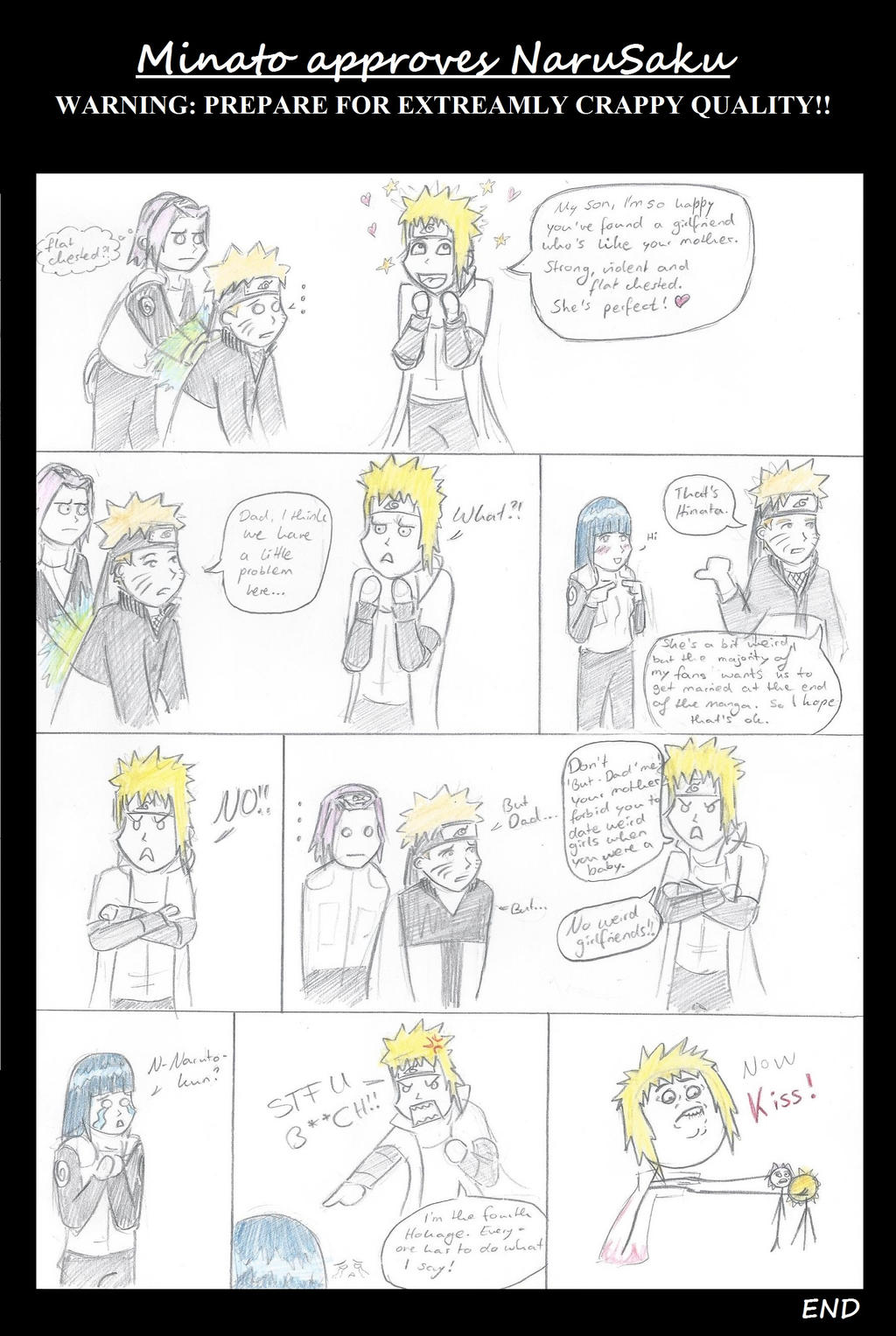 Minato approves NaruSaku by theFudgy94