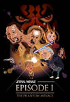 The Phantom Menace caricature poster