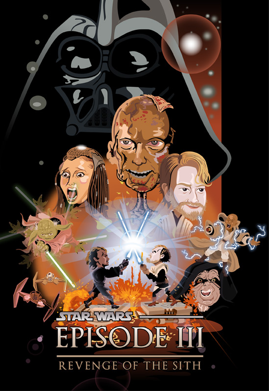Revenge of the Sith caricature cover by TheCalvoArt on ...