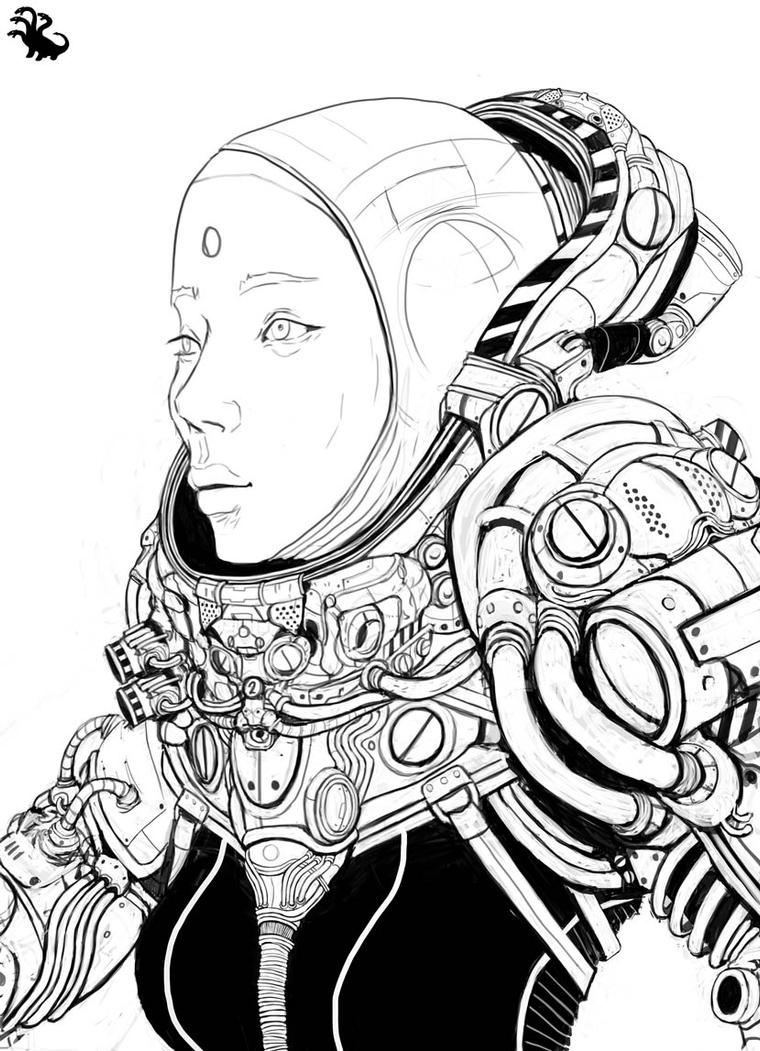 Line Art Space : Space lineart by landuo on deviantart