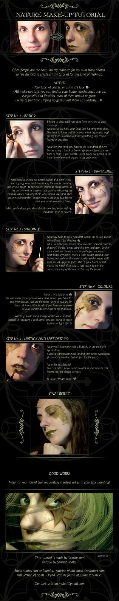 :: Nature Make-Up Tutorial :: by sabrine-photo-stock