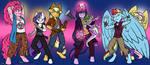 Mane6: Nightmare Hunters by MustLoveFrogs