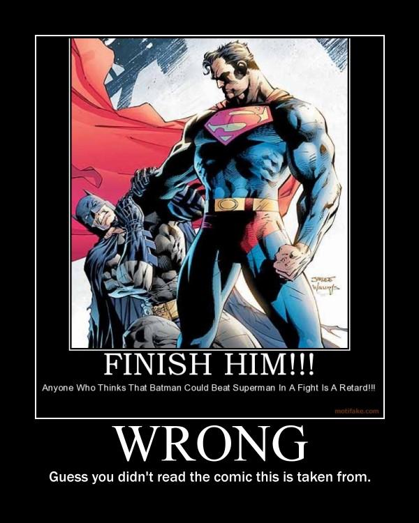 Batman vs Superman by maybetoby