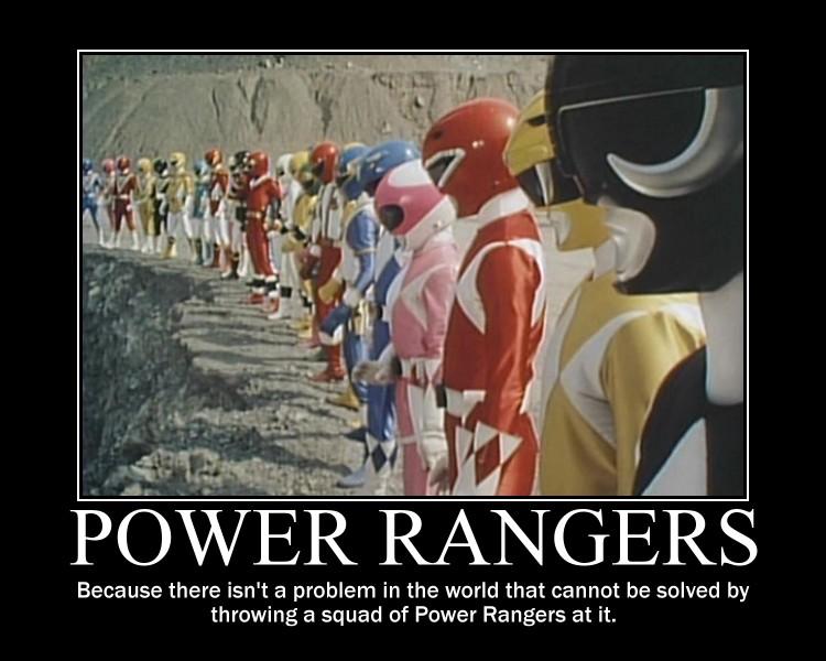 Lotta Power Rangers by maybetoby