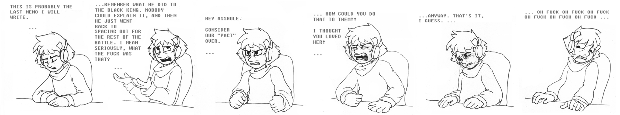 Karkat: Open memo. (Expression practice) by LadyIcepaw