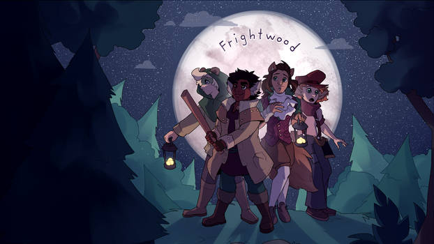 Frightwood Main Menu Illustration